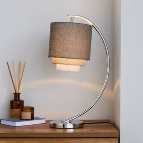 Eclipse 3 Tier Grey Table Lamp
