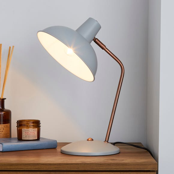 Leiden Grey Desk Lamp Grey