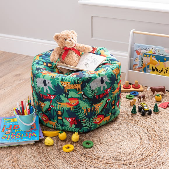Kids Jungle Friends Bean Bag MultiColoured
