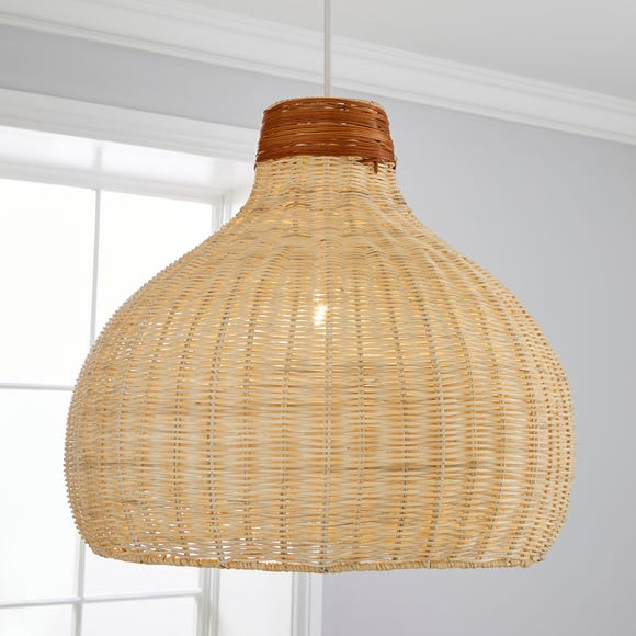 Trient Woven Rattan Easy Fit Pendant Natural