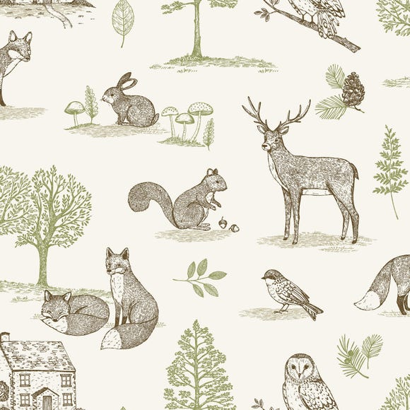 New Forest Natural Cotton Fabric Natural