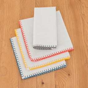 Elements Pack of 4 Coloured Stitch Napkins