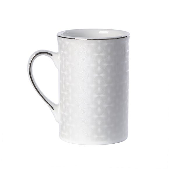 5A Fifth Avenue Grace Silver Mug White