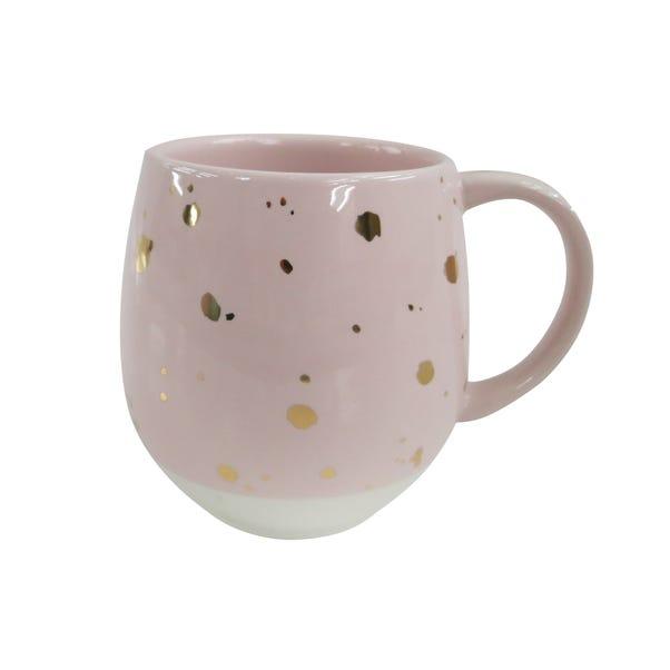 Pink Speckled Gold Mug Pink