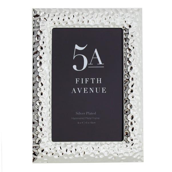 "5A Fifth Avenue Metal Photo Frame 6"" x 4"" (15cm x 10cm) Silver"
