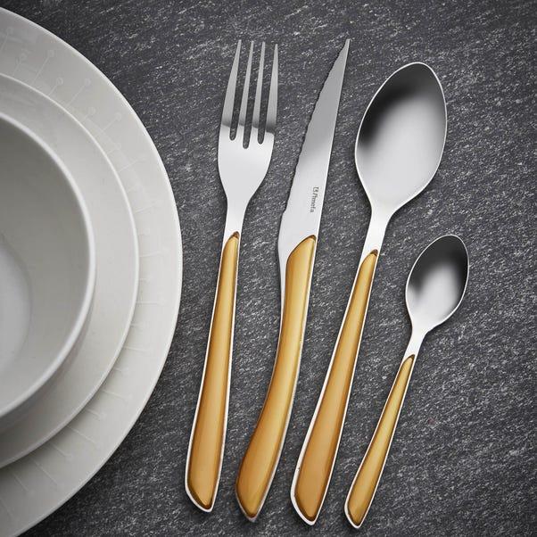 Elements Ochre 24 Piece Cutlery Set Ochre
