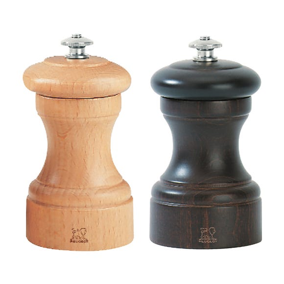 Peugeot Bistro Chocolate and Natural Salt and Pepper Mill Set Multi Coloured
