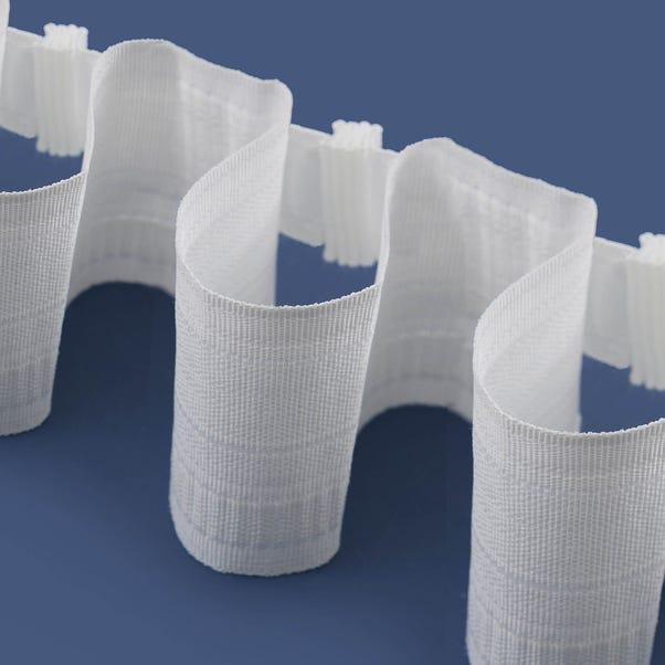 Universal Tempo Curtain Tape White