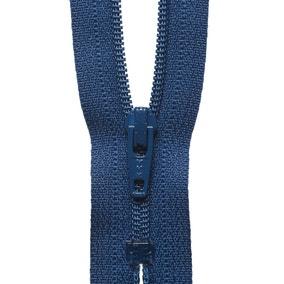 Denim Blue Nylon Dress and Skirt Zip