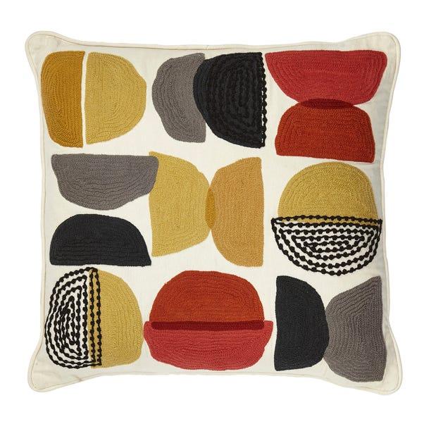 Elements Alton Crewel Cushion MultiColoured
