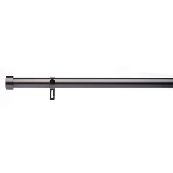 Trinity Fixed Gunmetal Eyelet Curtain Pole Dia. 29mm Gunmetal (Grey) undefined
