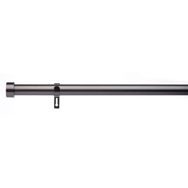 Trinity Fixed Gunmetal Eyelet Curtain Pole Dia. 29mm  undefined