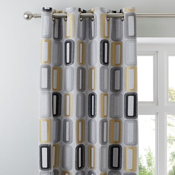 Elements Dahl Ochre Eyelet Curtains  undefined