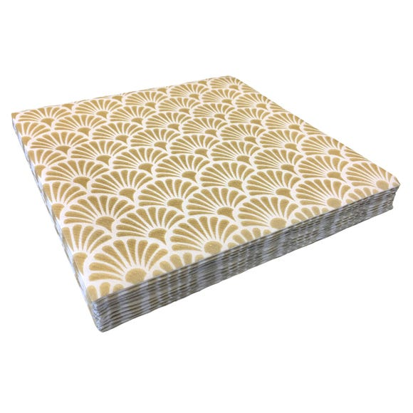 5A Fifth Avenue Bergen Pack of 20 Gold Paper Napkins Gold