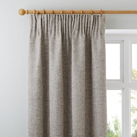 Thornton Grey Pencil Pleat Curtains  undefined