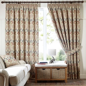 Lucetta Jewel Pencil Pleat Curtains