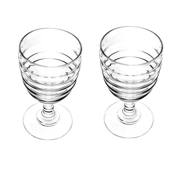 Sophie Conran for Portmeirion Set of 2 Wine Glasses Clear