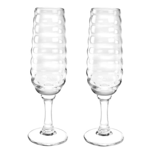 Sophie Conran for Portmeirion Set of 2 Champagne Glasses Clear