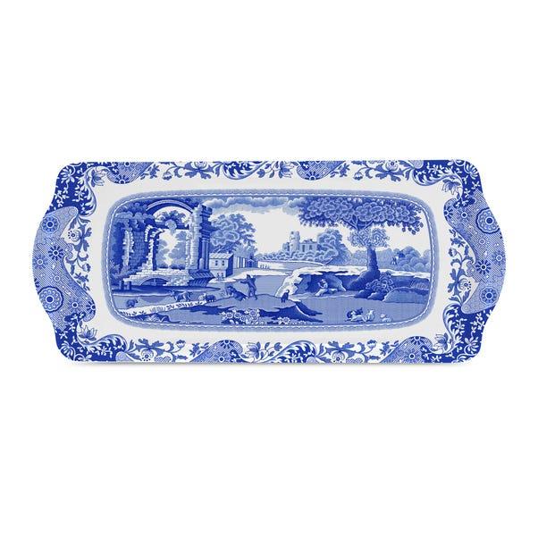 Spode Blue Italian Sandwich Tray Blue