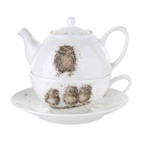 Wrendale Owls Tea For One with Saucer