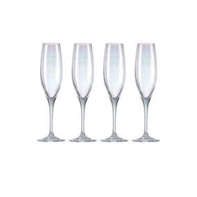 Pack of 4 Lustre Champagne Flutes