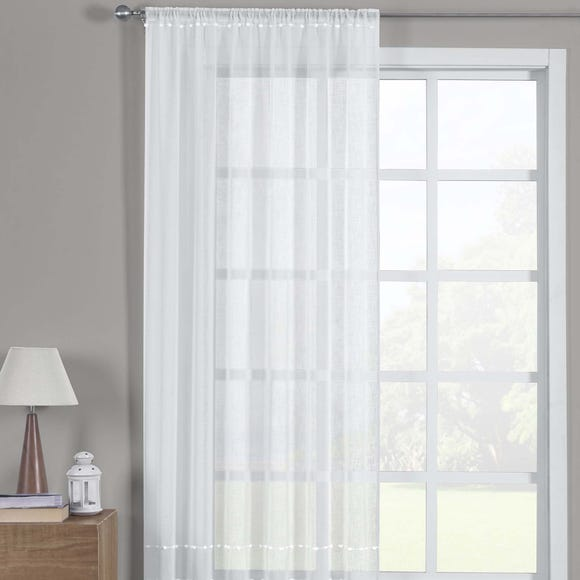 Olivia White Slot Top Single Voile Panel  undefined