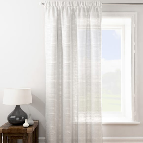 Lucerne White Tape Top Single Voile Panel  undefined