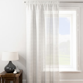 Lucerne White Tape Top Single Voile Panel
