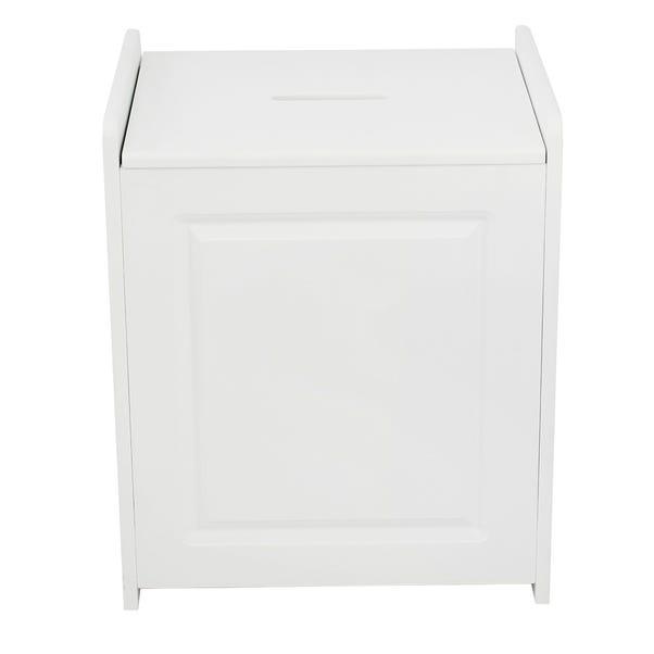 Verona White Laundry Basket