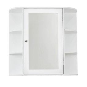 Verona White Mirror Cabinet