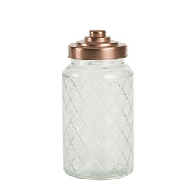 T&G Large Glass Jar with Copper Lid