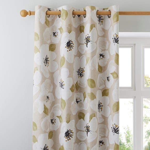 Ariana Brushed Natural Eyelet Curtains  undefined