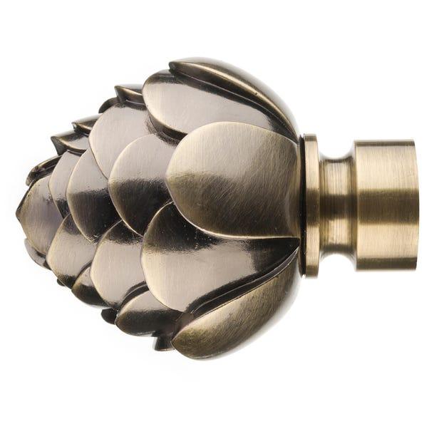 Mix and Match 28mm Artichoke Flower Finials Antique Brass