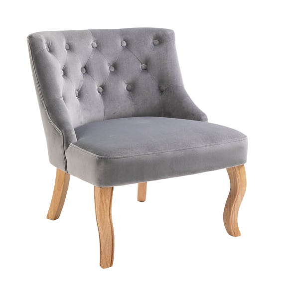 Antoinette Velvet Chair - Grey