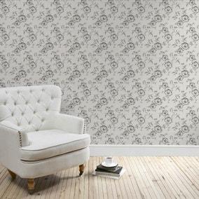 Pivoine Floral Wallpaper