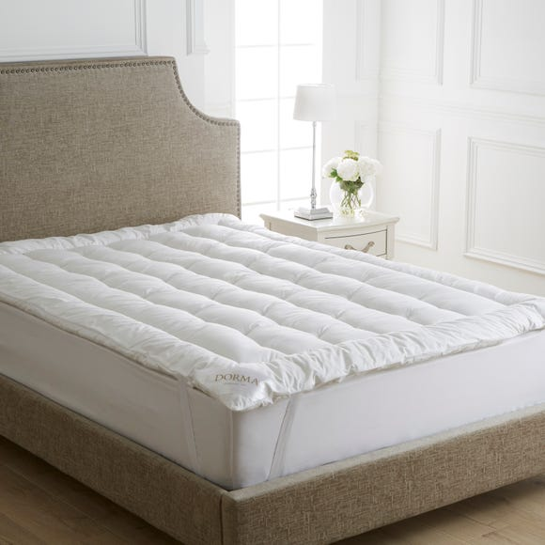Dorma Sumptuous Soft Mattress Topper White undefined