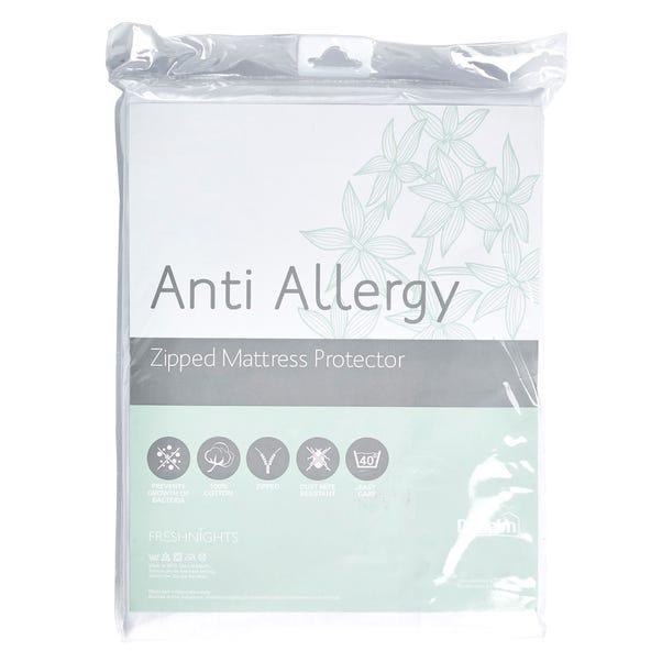Freshnights Anti Allergy 35cm Deep Zipped Mattress Protector White undefined