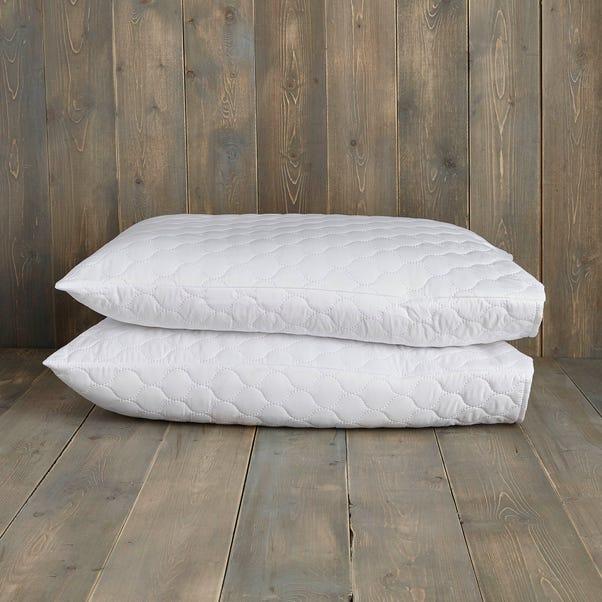Teflon Stain Resistant Pillow Protector Pair White