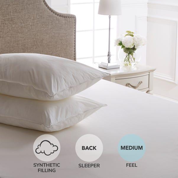 Dorma Satin Touch Pillow Pair White