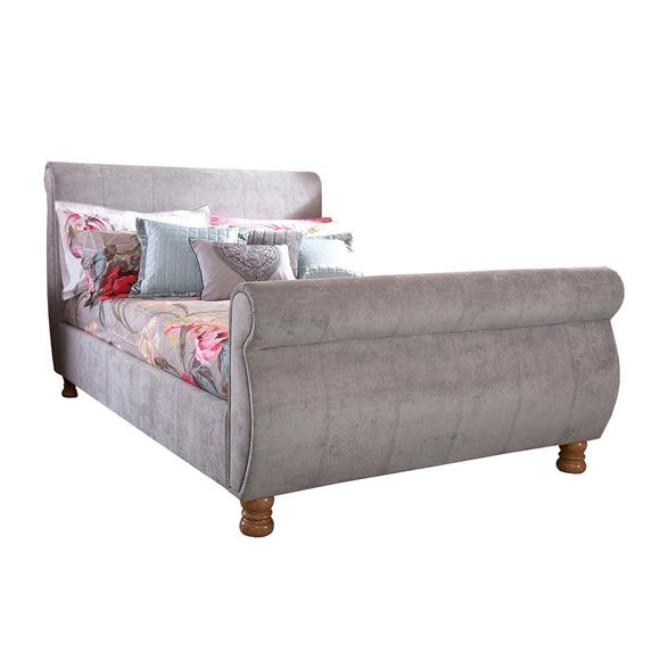 Chicago Upholstered Sleigh Bedstead  undefined
