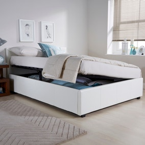 Seattle Ottoman Storage White Bed Frame