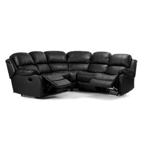 Anton Bonded Leather Reclining Corner Sofa