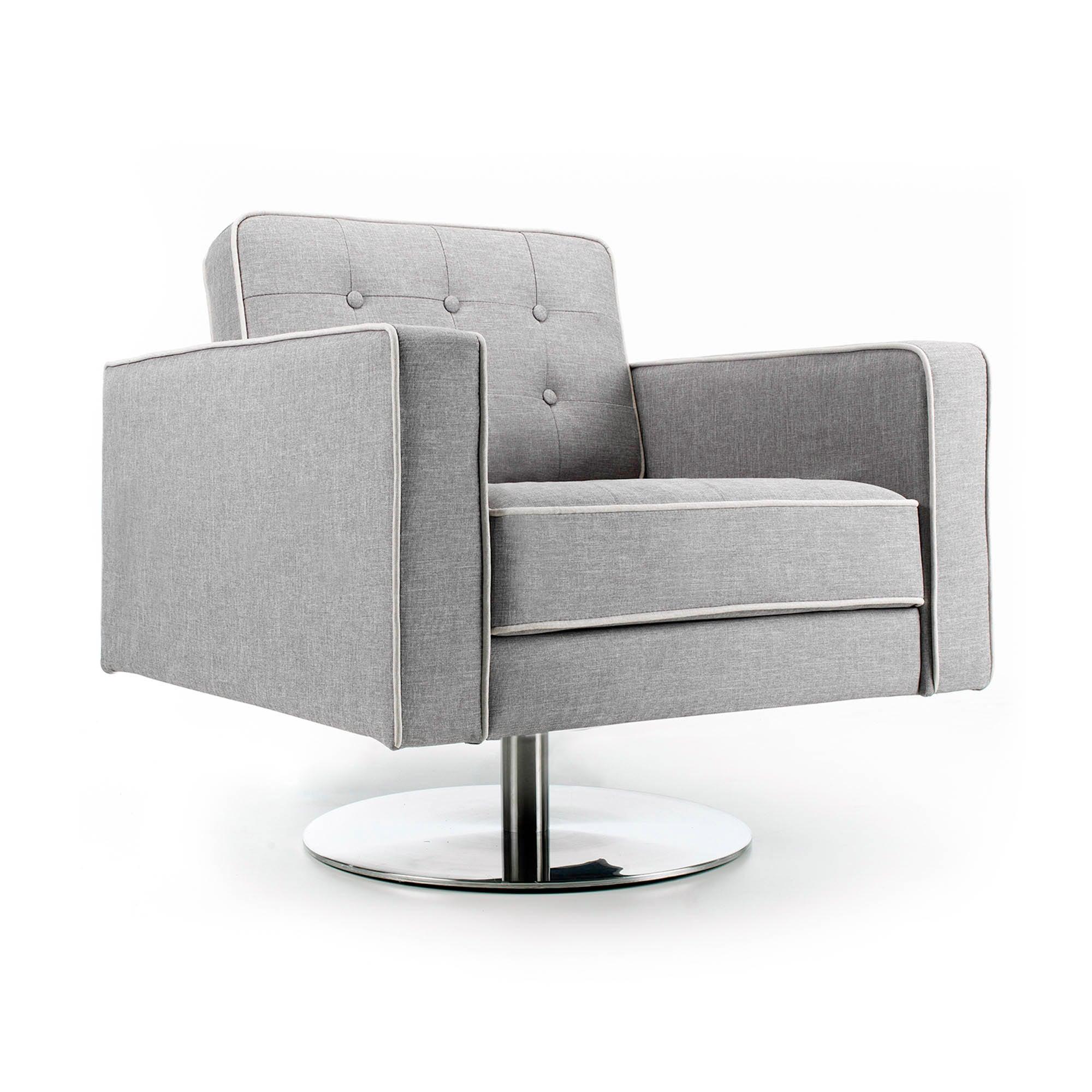 Photo of Prague fabric armchair - grey grey