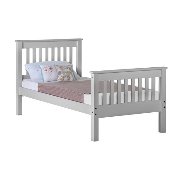 Monaco Grey High Foot End Bed Frame  undefined