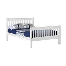 Monaco White High Foot End Bed Frame