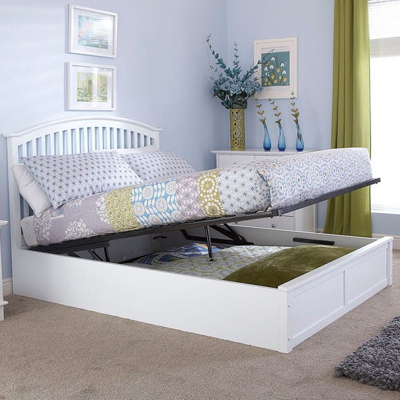Madrid White Ottoman Bedstead White undefined