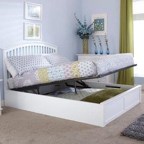 Madrid White Ottoman Bed