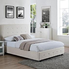 Chanel Cream Fabric Bedstead