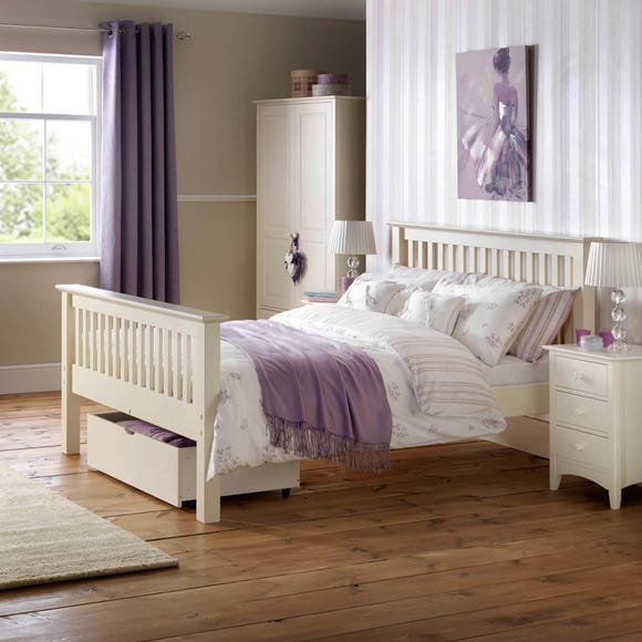 Barcelona High Foot End Bedstead Off-White undefined