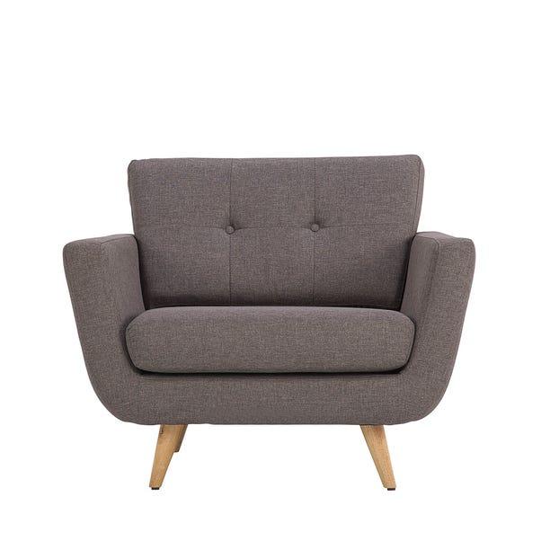 Isabella Fabric Armchair - Grey Grey